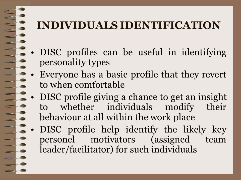 INDIVIDUALS IDENTIFICATION