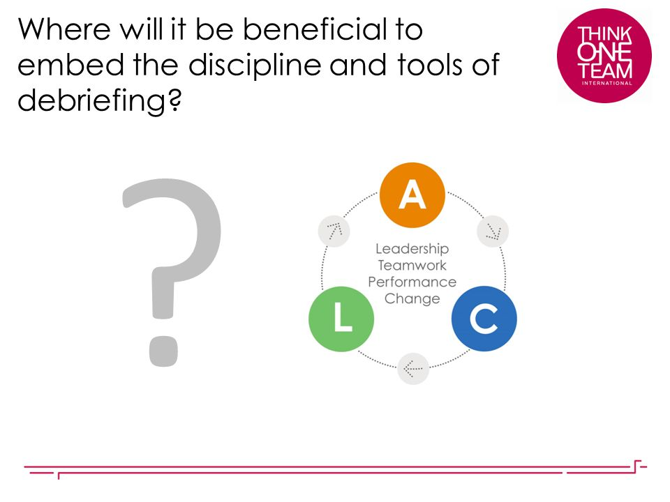 Where will it be beneficial to embed the discipline and tools of debriefing