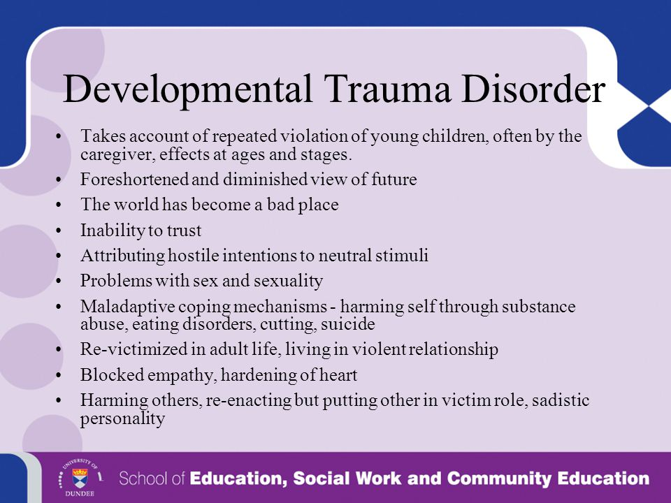 Developmental Trauma Disorder