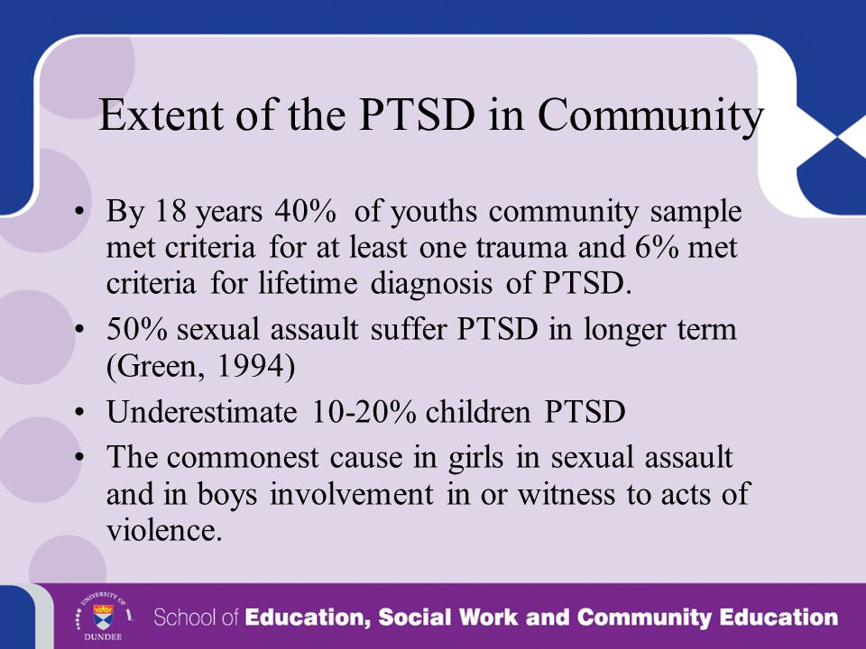 Extent of the PTSD in Community