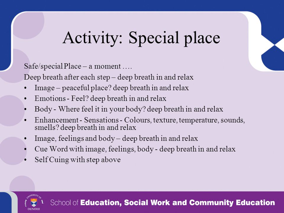 Activity: Special place
