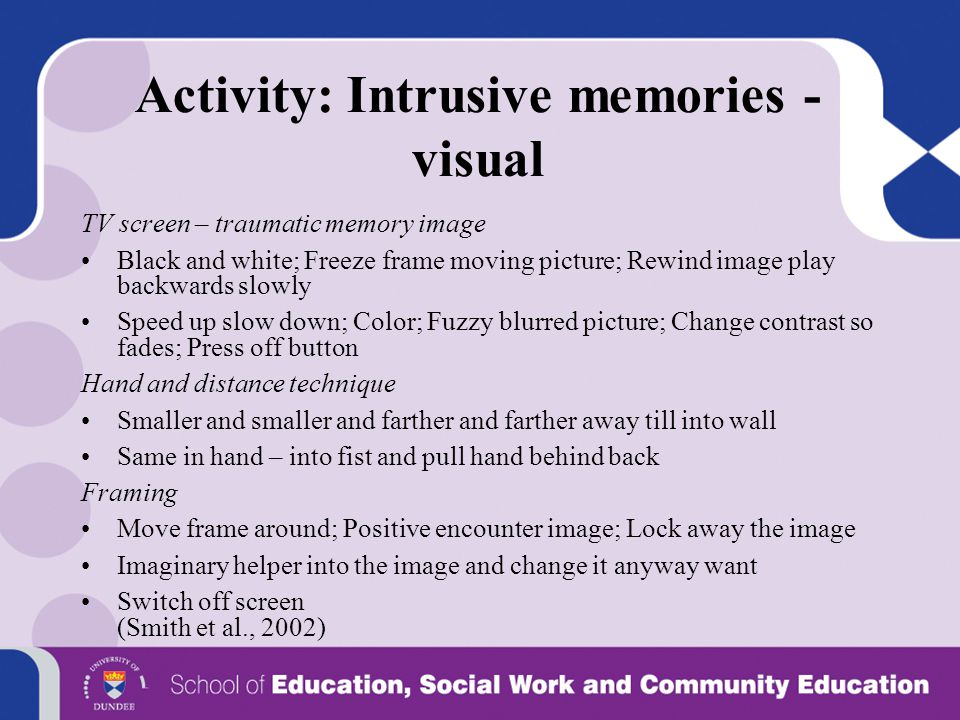 Activity: Intrusive memories - visual