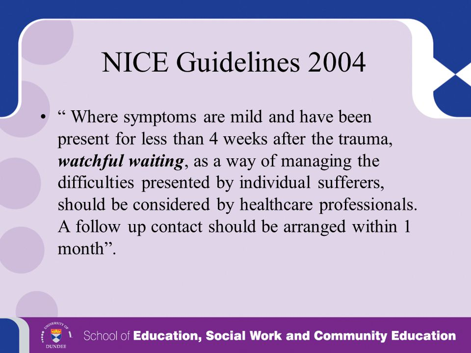 NICE Guidelines 2004