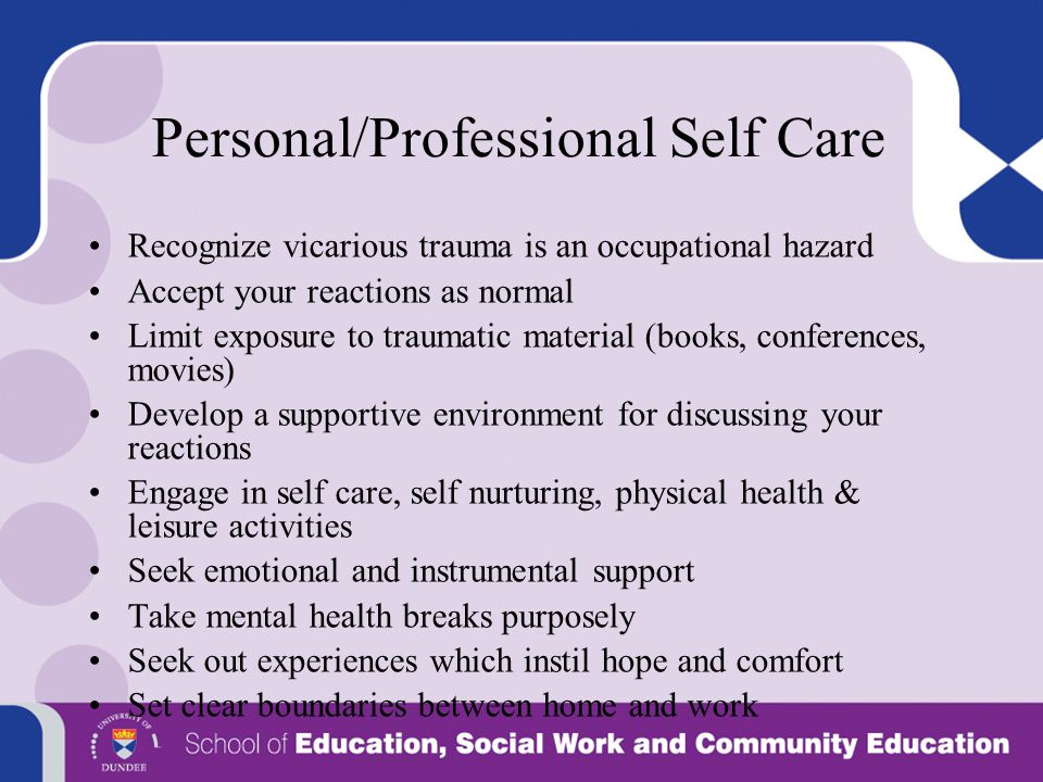 Personal/Professional Self Care
