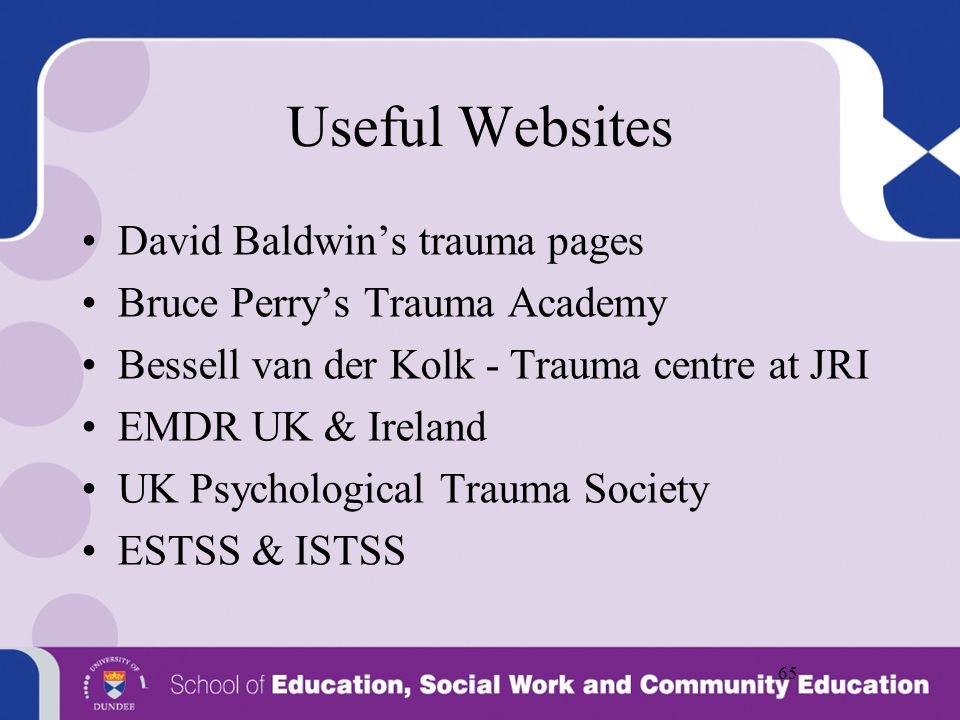 Useful Websites David Baldwin's trauma pages