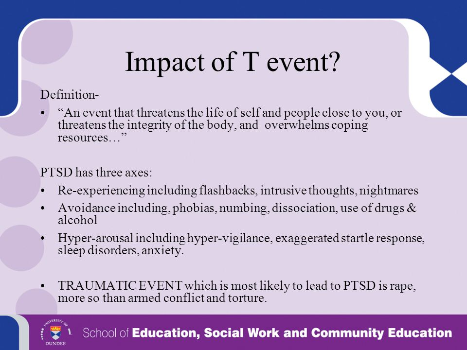 Impact of T event Definition-