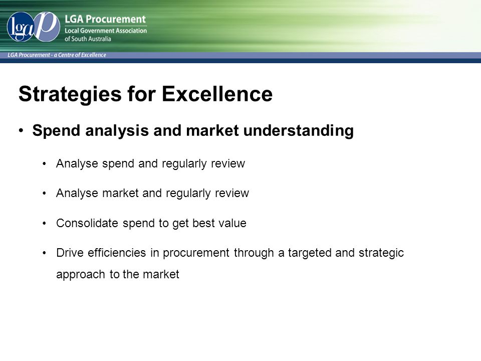 Strategies for Excellence
