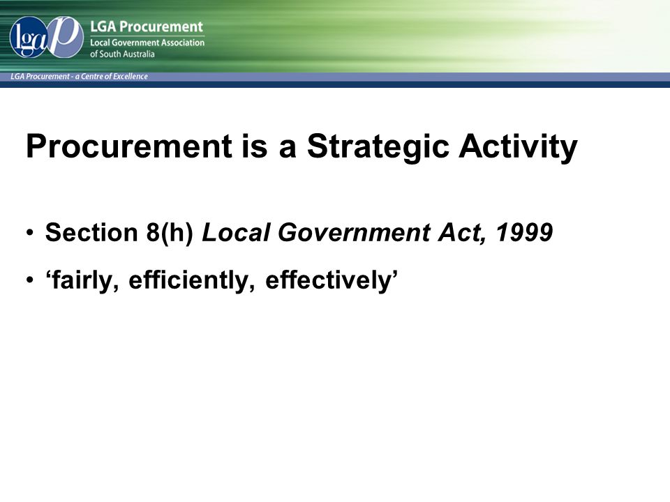 Procurement is a Strategic Activity