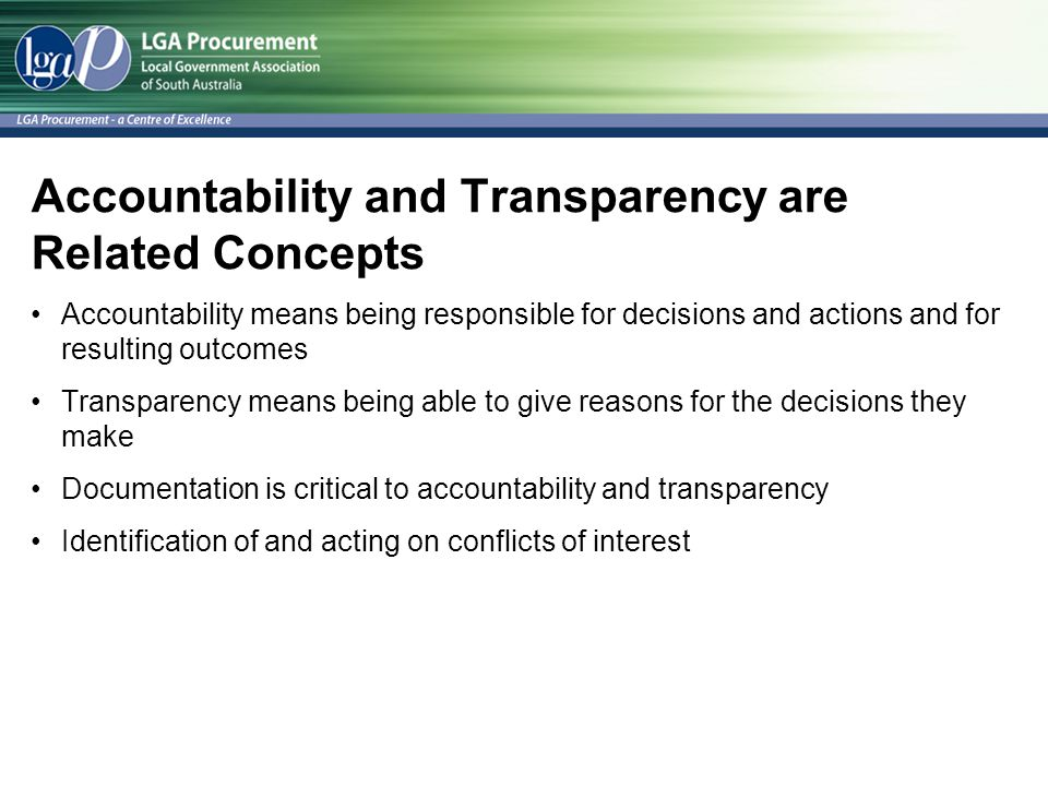Accountability and Transparency are Related Concepts