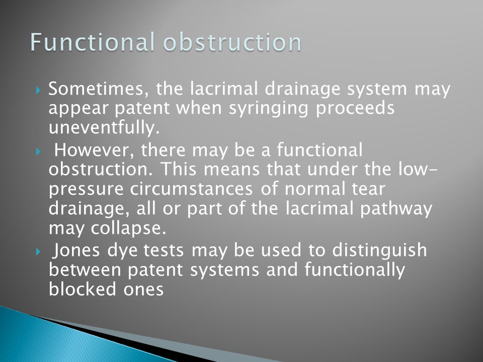 Functional obstruction