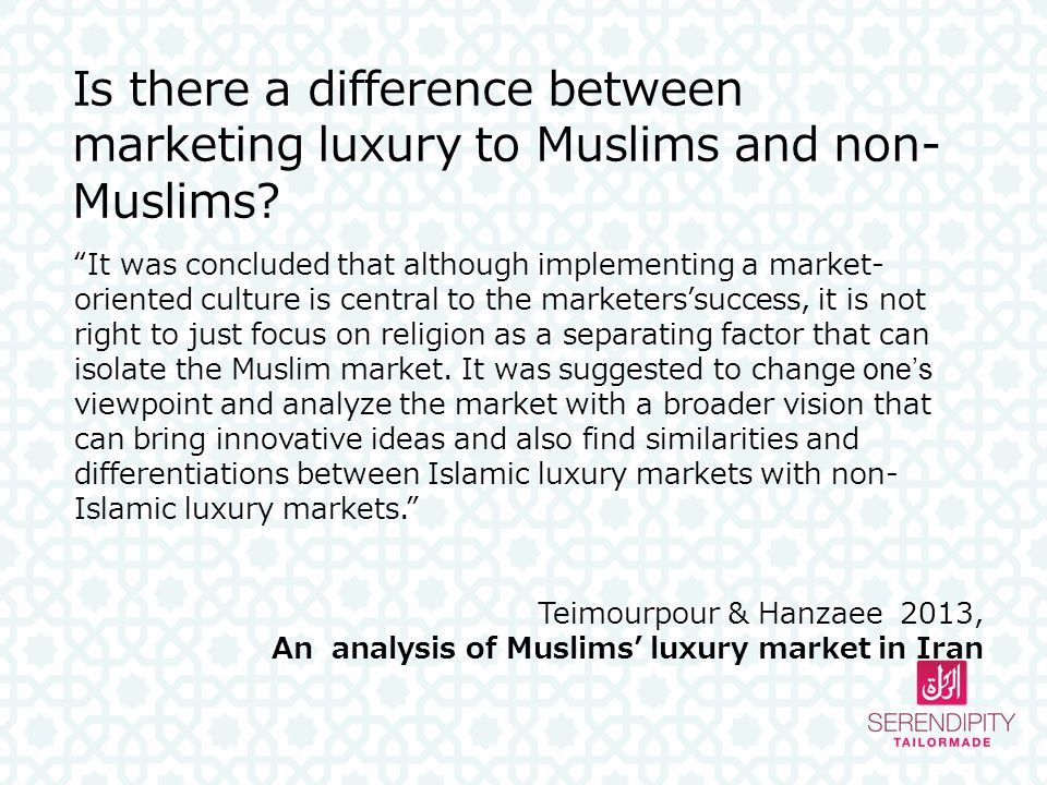 Is there a difference between marketing luxury to Muslims and non-Muslims