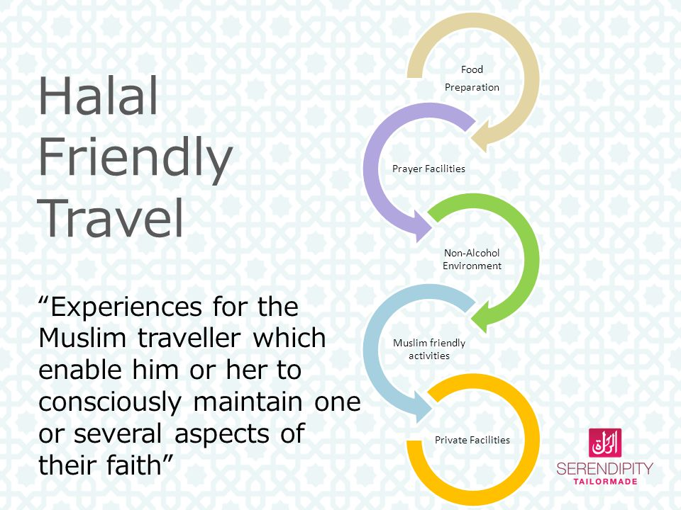 Food Preparation. Prayer Facilities. Non-Alcohol Environment. Muslim friendly activities. Private Facilities.