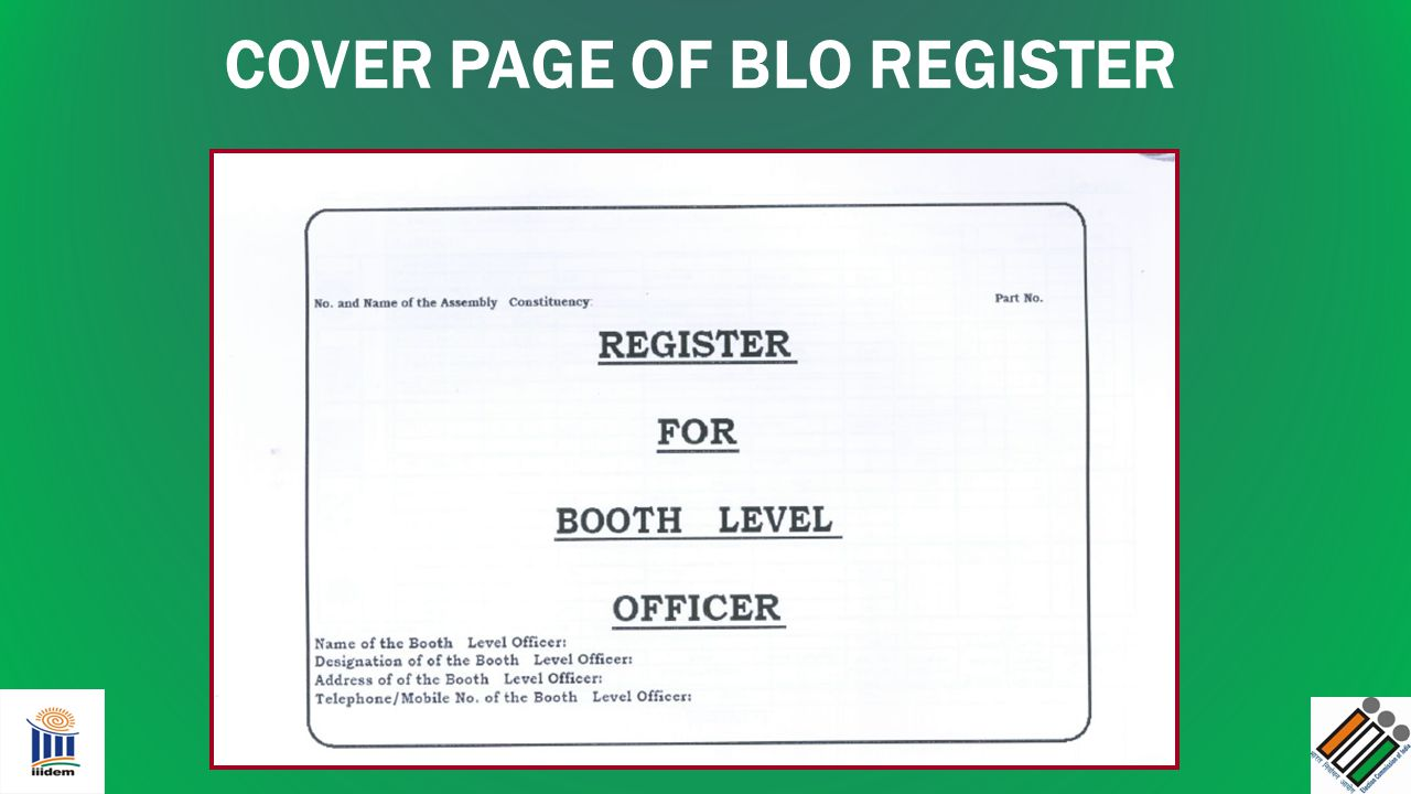 COVER PAGE OF BLO REGISTER