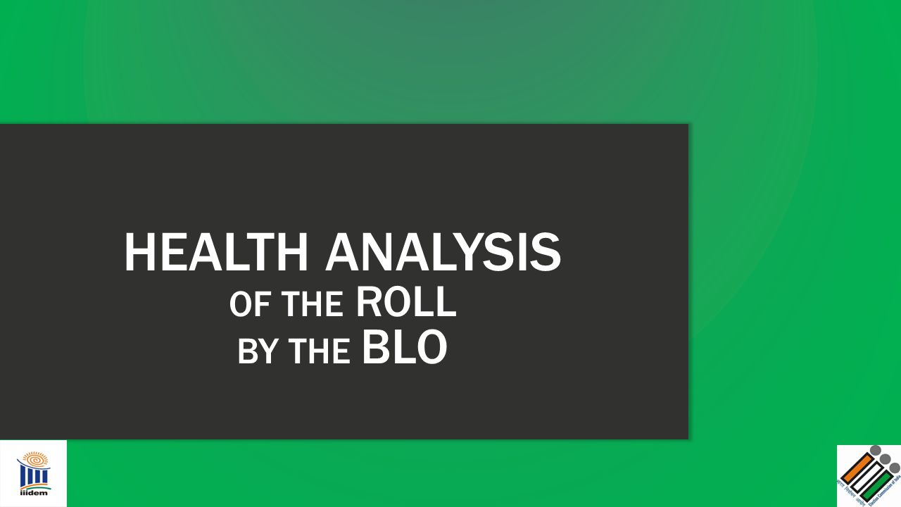 HEALTH ANALYSIS OF THE ROLL BY THE BLO