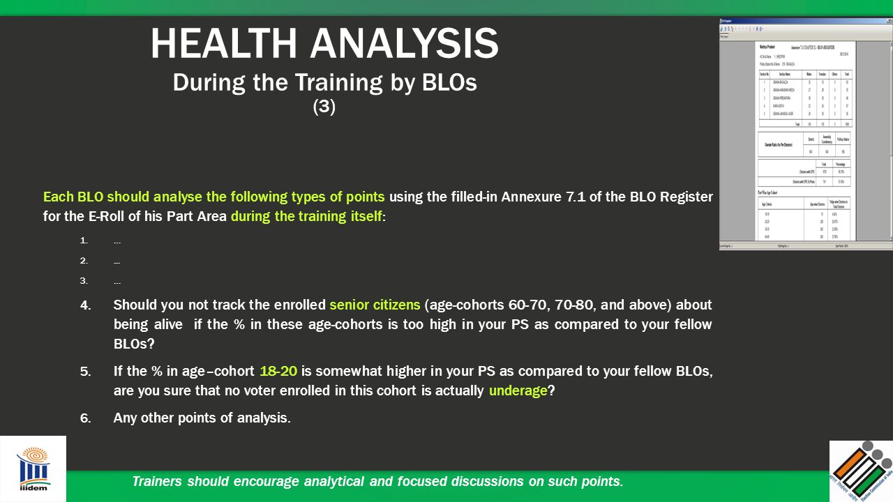 HEALTH ANALYSIS During the Training by BLOs (3)