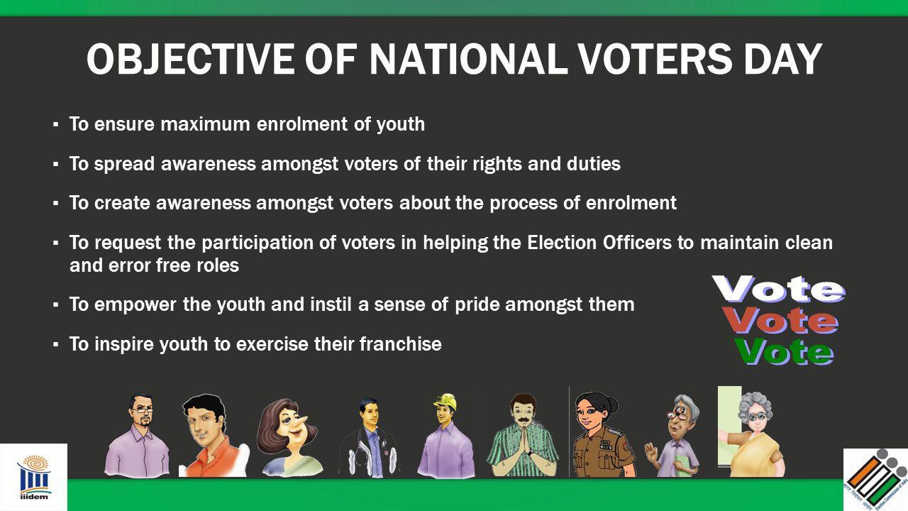 OBJECTIVE OF NATIONAL VOTERS DAY
