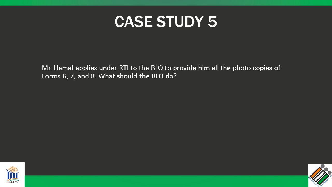 CASE STUDY 5 Mr.