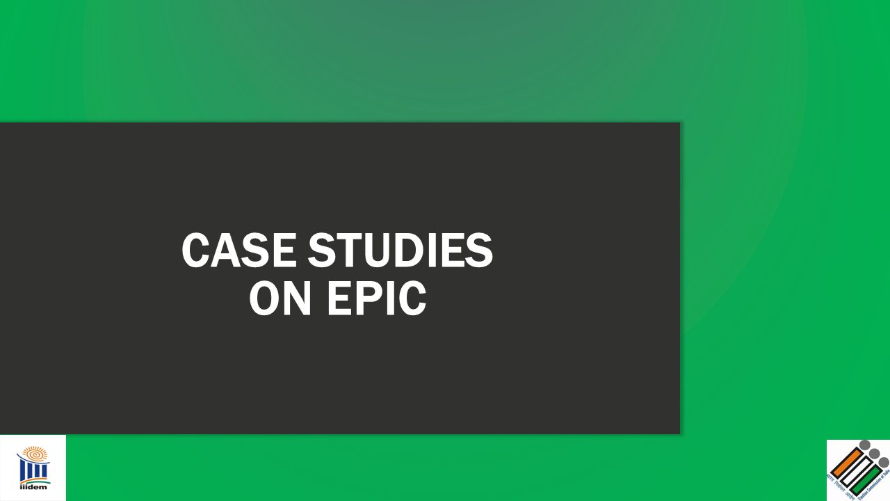 CASE STUDIES ON EPIC 20 MINUTES