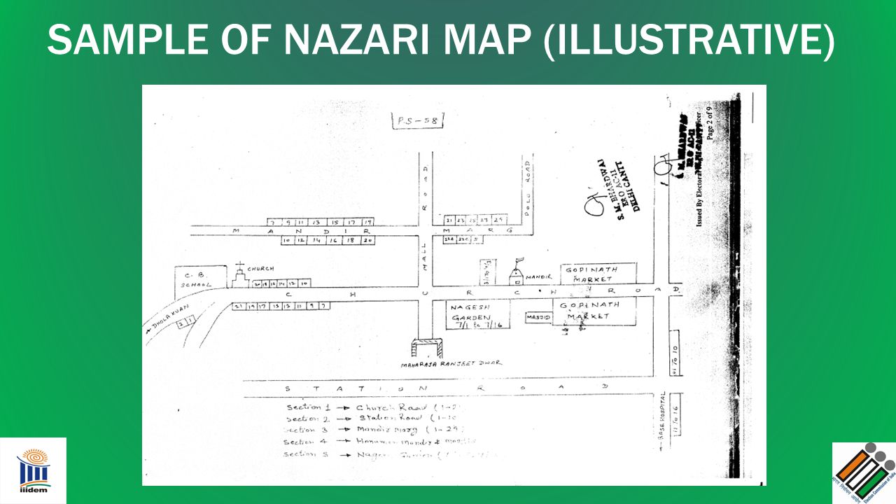 SAMPLE OF NAZARI MAP (ILLUSTRATIVE)