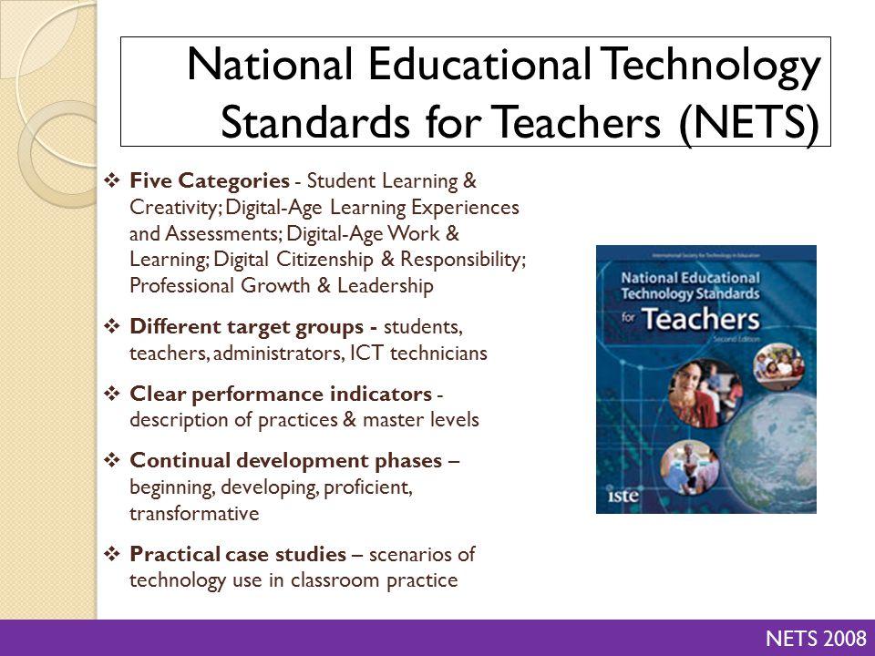 National Educational Technology Standards for Teachers (NETS)