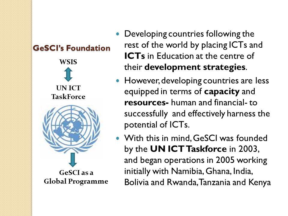 GeSCI's Foundation