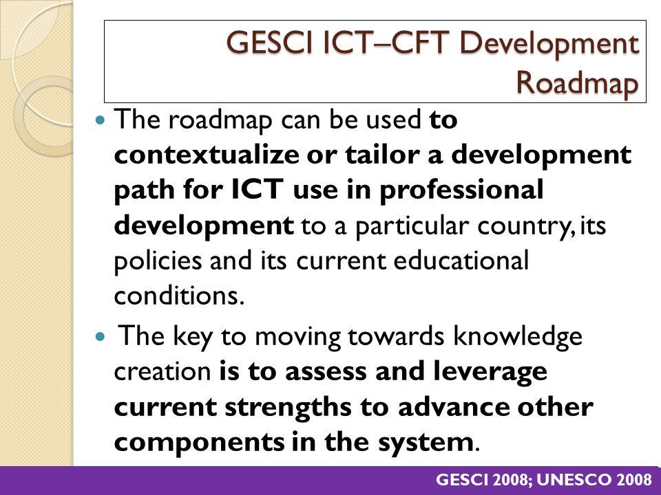 GESCI ICT–CFT Development Roadmap