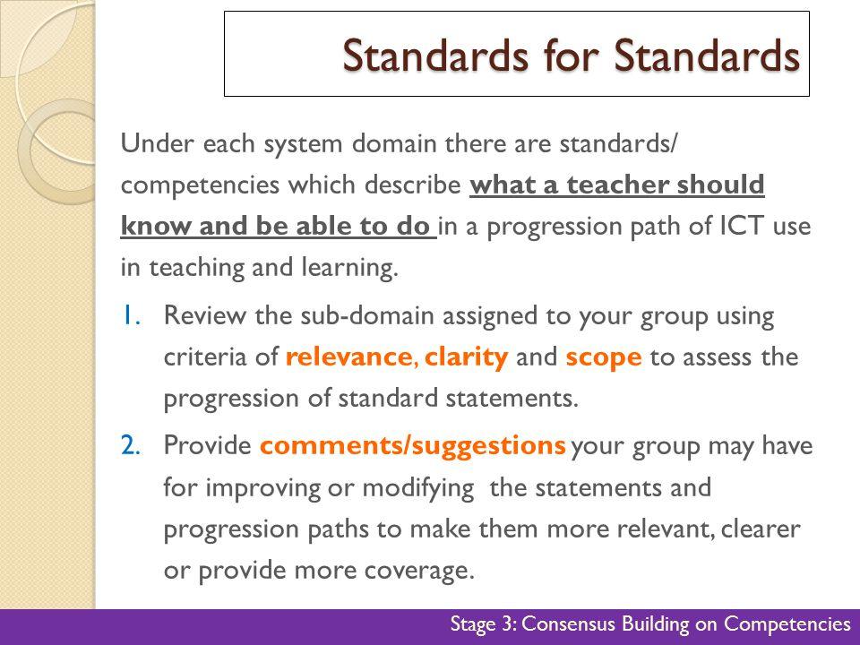 Standards for Standards