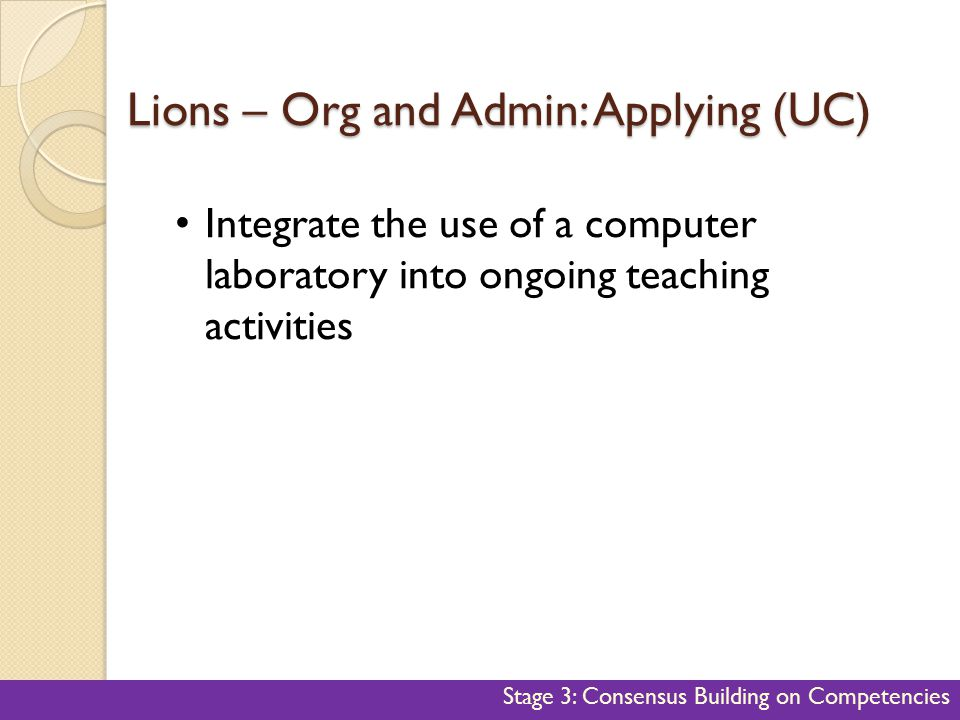 Lions – Org and Admin: Applying (UC)