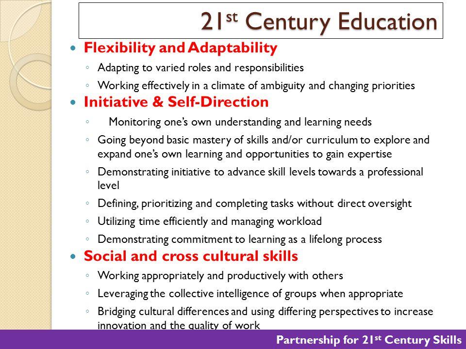 21st Century Education Flexibility and Adaptability
