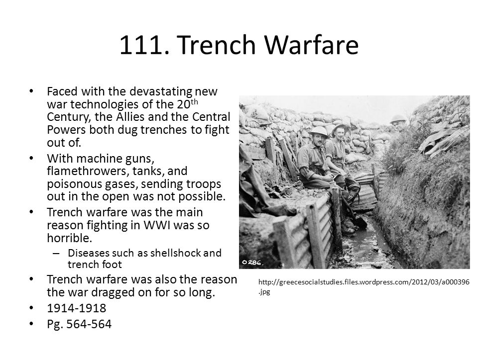 111. Trench Warfare