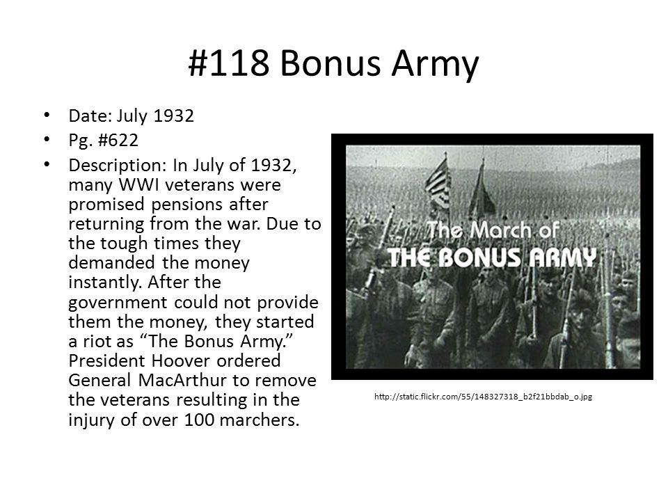 #118 Bonus Army Date: July 1932 Pg. #622