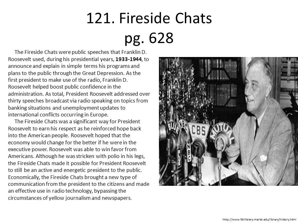 121. Fireside Chats pg. 628
