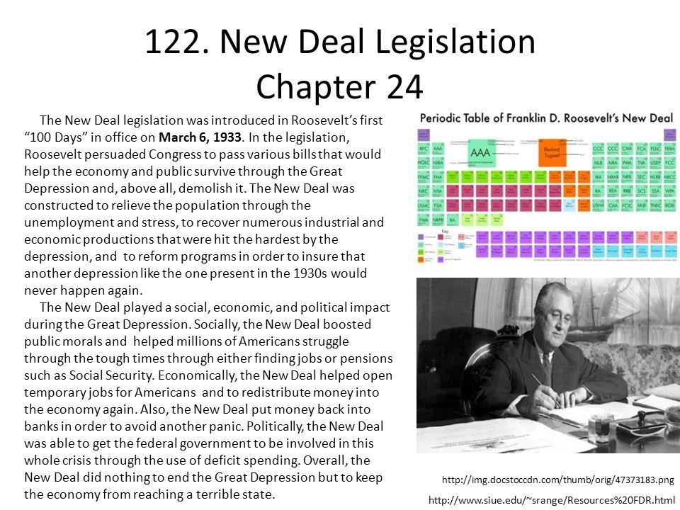 122. New Deal Legislation Chapter 24