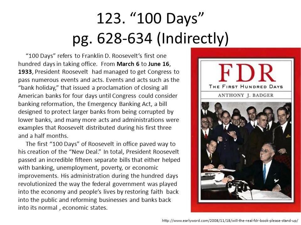 123. 100 Days pg. 628-634 (Indirectly)