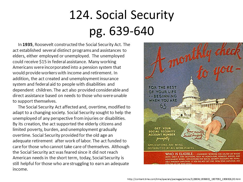 124. Social Security pg. 639-640