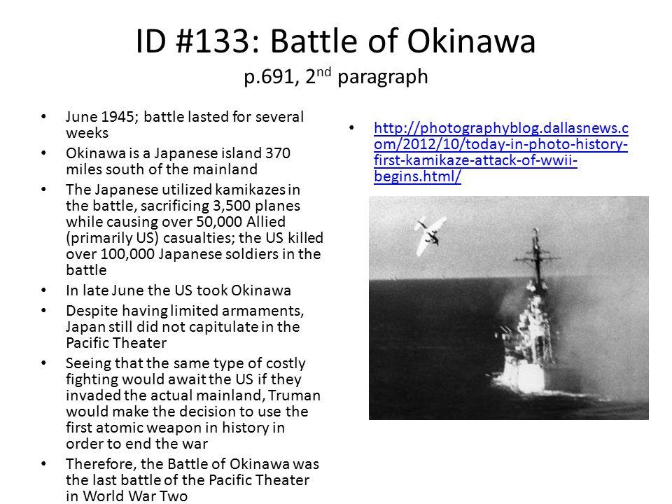 ID #133: Battle of Okinawa p.691, 2nd paragraph
