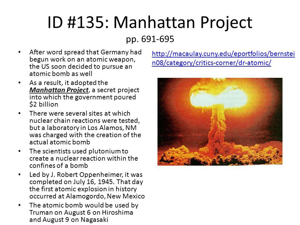 ID #135: Manhattan Project pp. 691-695