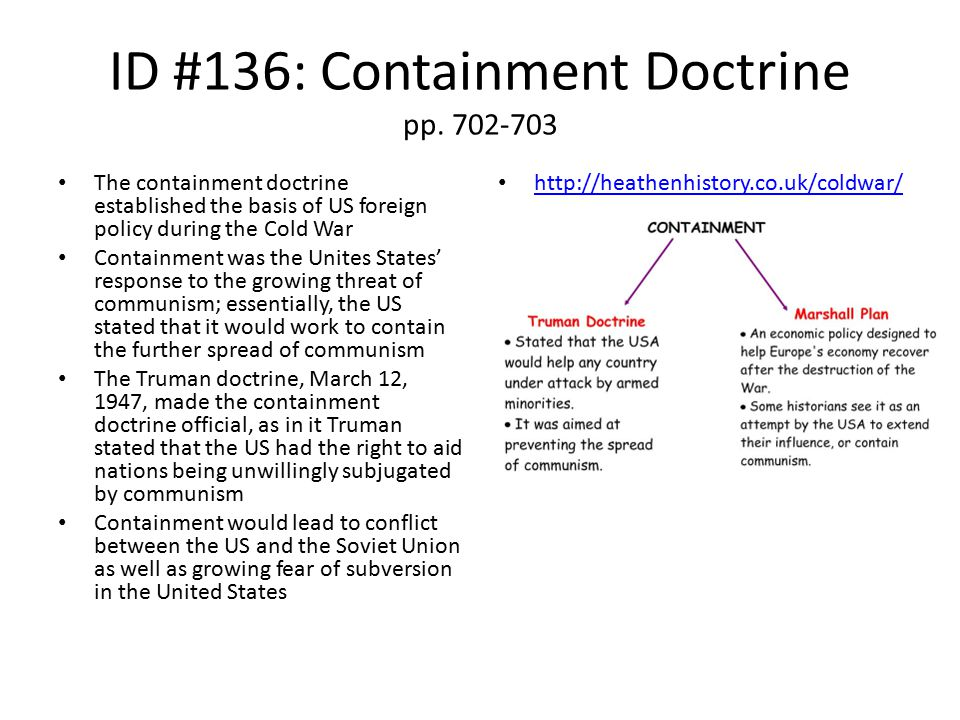 ID #136: Containment Doctrine pp. 702-703