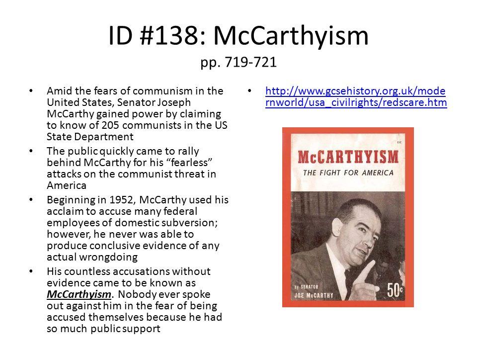 ID #138: McCarthyism pp. 719-721