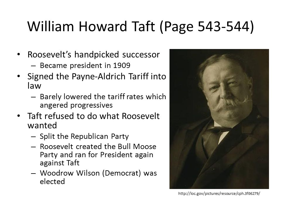 William Howard Taft (Page 543-544)