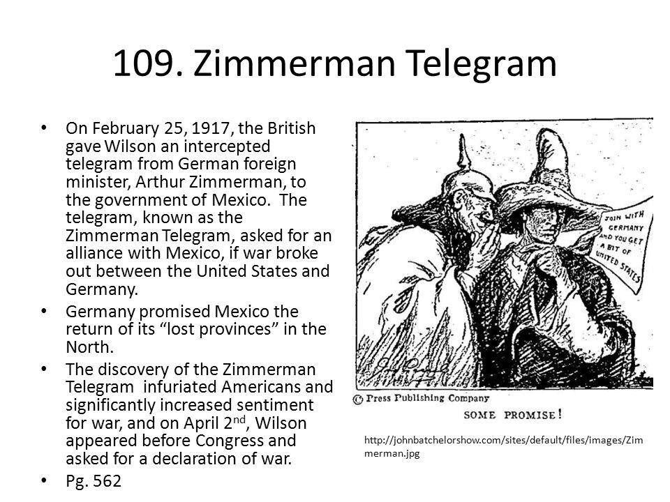 109. Zimmerman Telegram