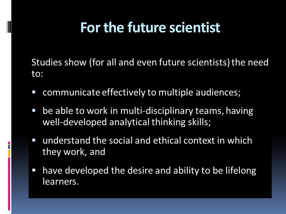 For the future scientist