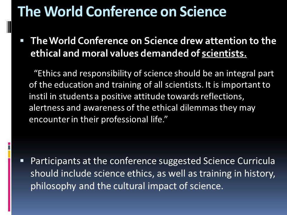 The World Conference on Science