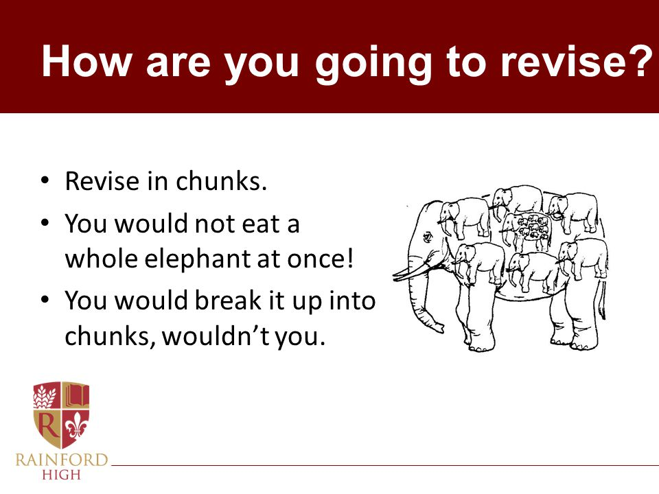 How are you going to revise