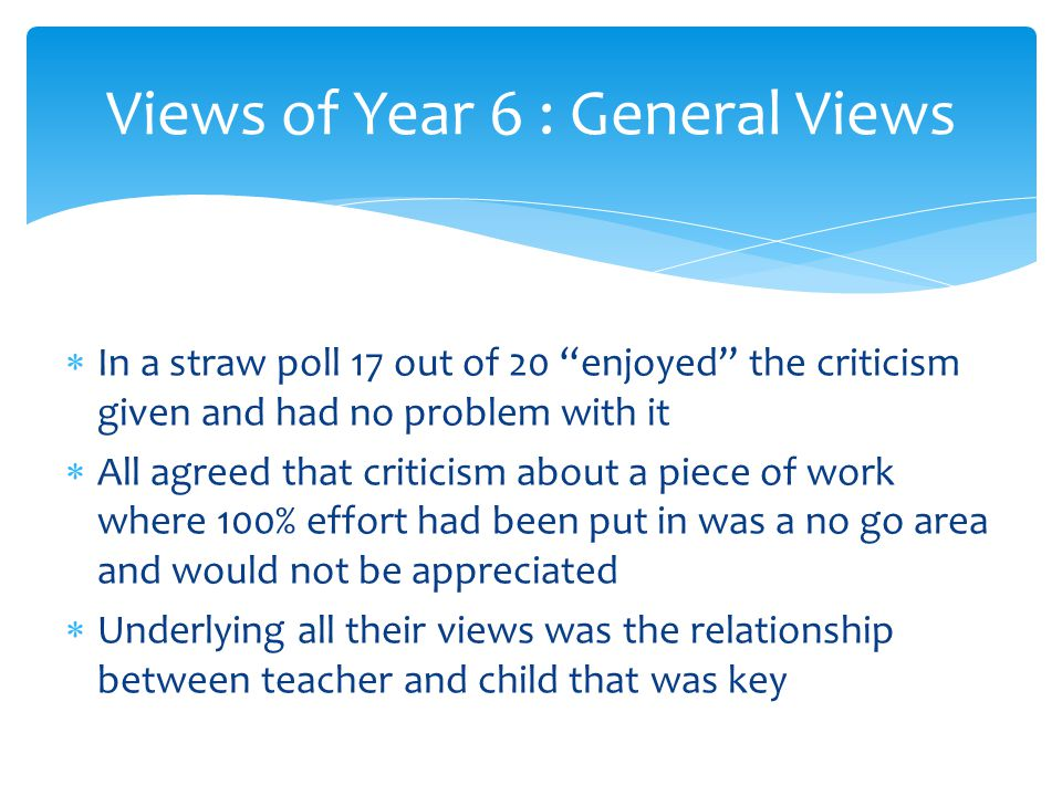 Views of Year 6 : General Views