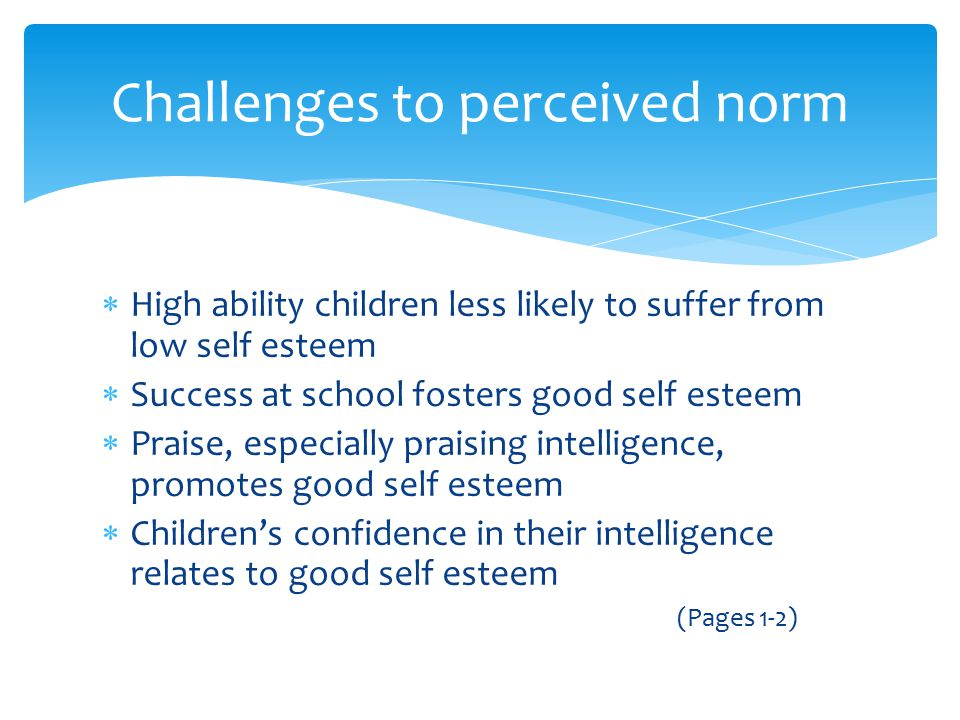 Challenges to perceived norm