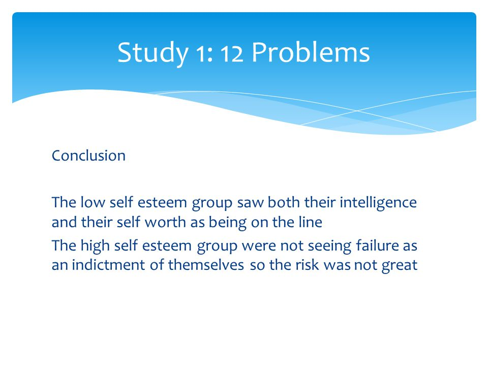 Study 1: 12 Problems