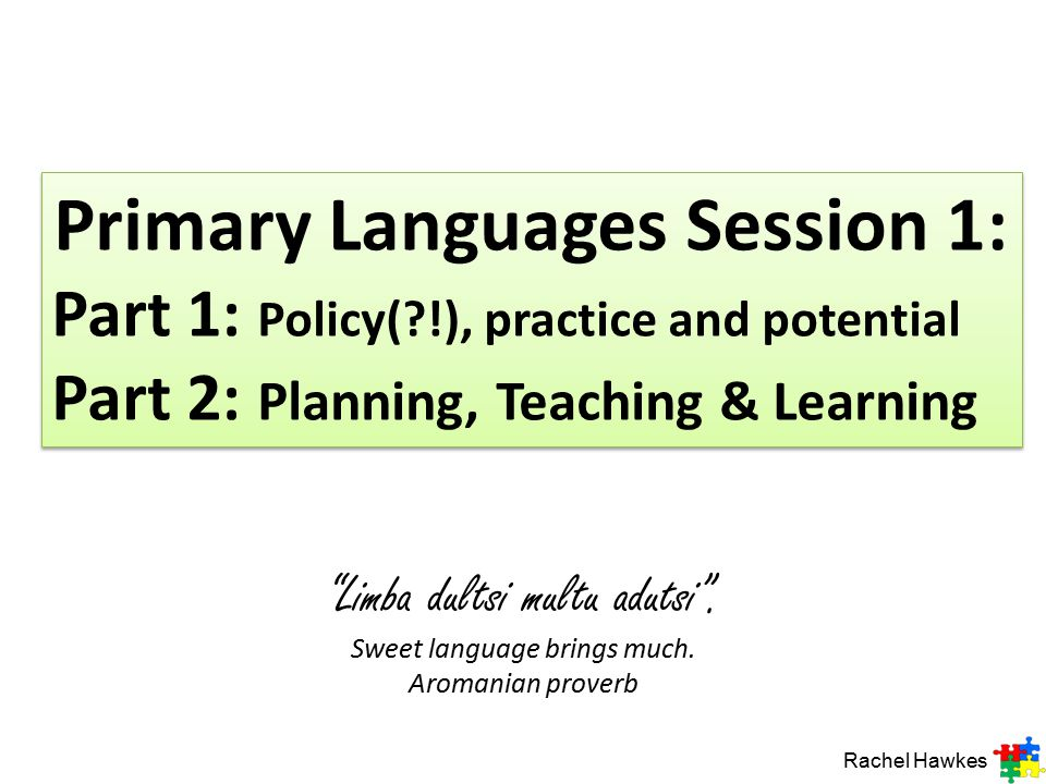 Primary Languages Session 1: