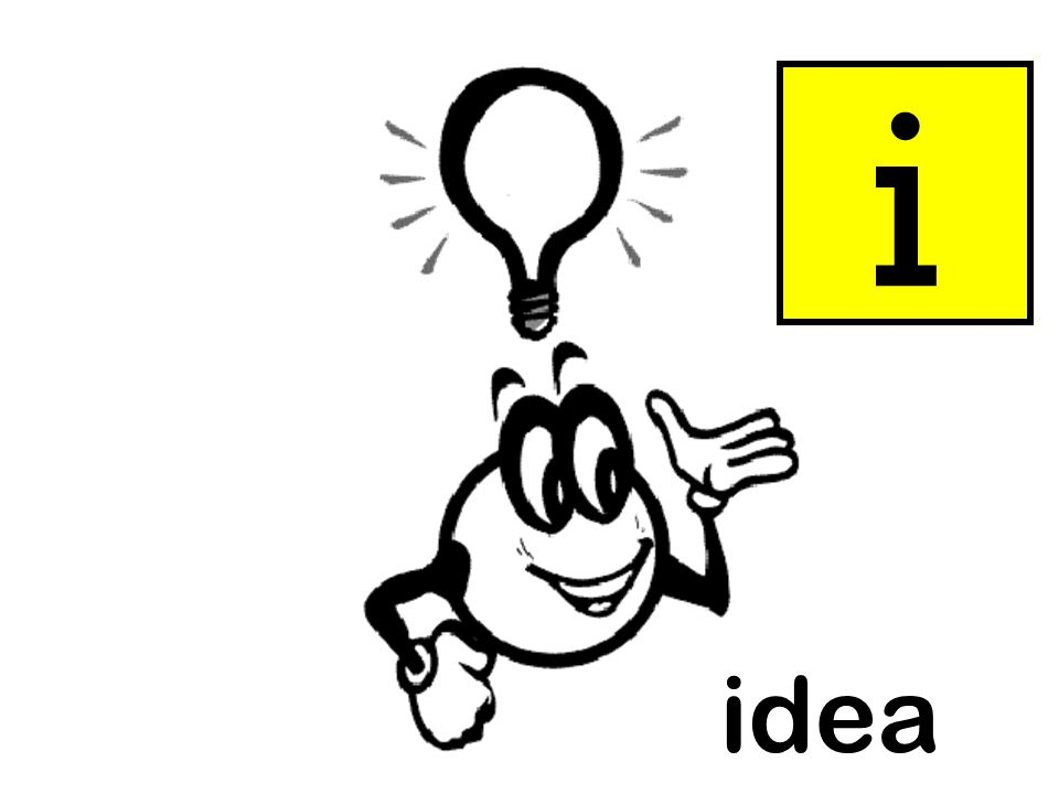 i Instructions as per slide 3. idea = idea idea