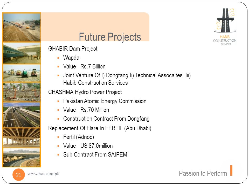 Future Projects Passion to Perform GHABIR Dam Project Wapda
